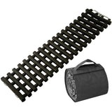 One Recovery Track Mat for Ice Snow or Sand Ladder Emergency Traction for Vehicle Tires with Carry Bag
