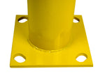 "Bollard Post - Steel Safety Barrier Protection- Yellow Powder Coat 5.5"" Diameter 36"" Tall"