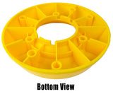Trailer Tongue Jack Wheel Dock for Travel Trailer Jack Caster - High Visibility Yellow