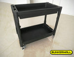 "Utility Cart - 32"" x 18"" x 31"" Rolling Tool Cart With Wheels for Office or Storage - 2 Shelf Black"