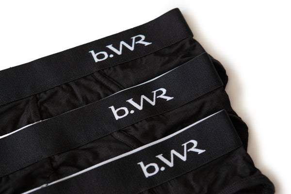 Bamboo Underwear Men - 3 or 5 Pack - Bamboo Briefs For Men BWR - b.WR