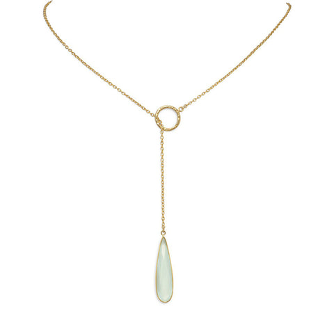 Stone Lariat Necklace