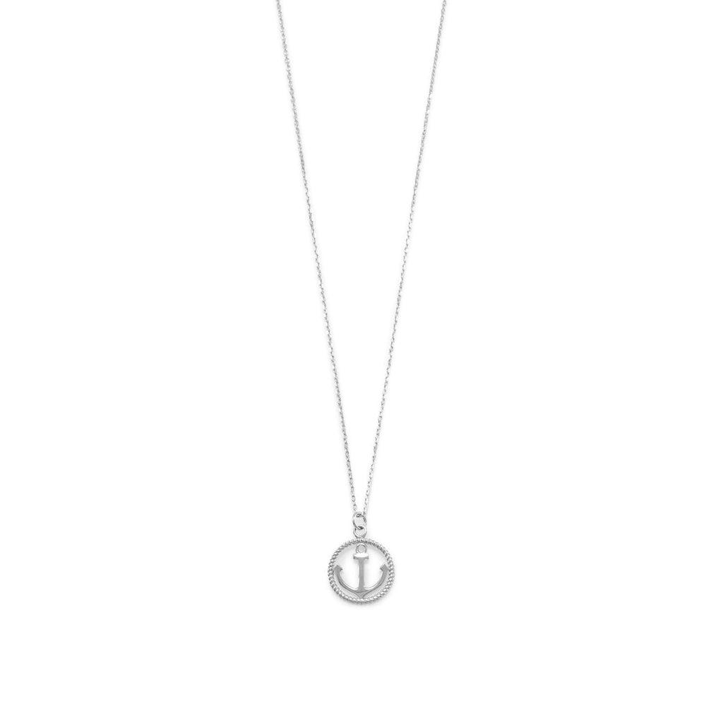 Anchor Disc Necklace