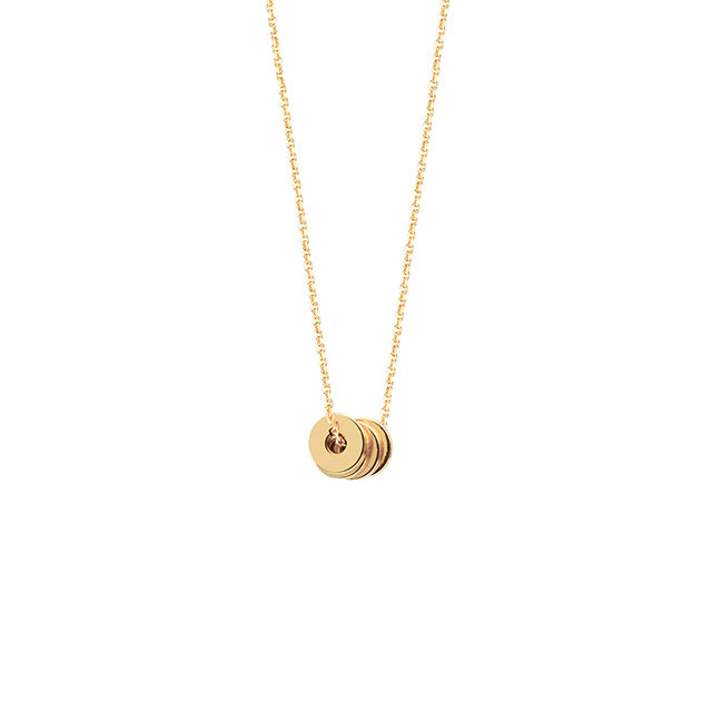 Donut Disk Necklace | 14kt Gold