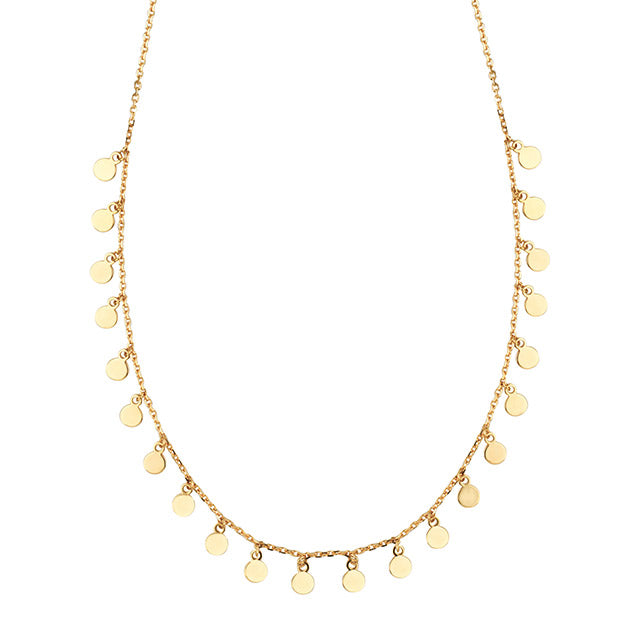 Raindrops Necklace | 14kt Gold