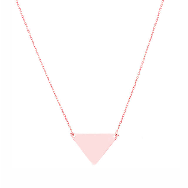 Wide Triangle Spike Necklace | 14kt Gold