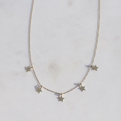 Stars in the City Dangle Necklace | 14kt Gold