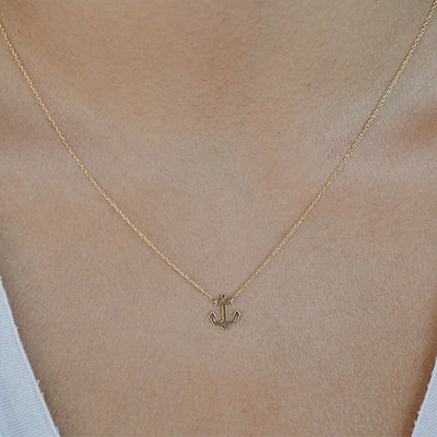 Anchor Necklace | 14kt Gold