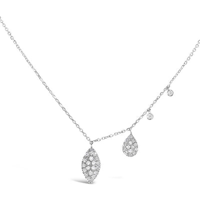 Diamond Cascade Necklace | 14kt Gold