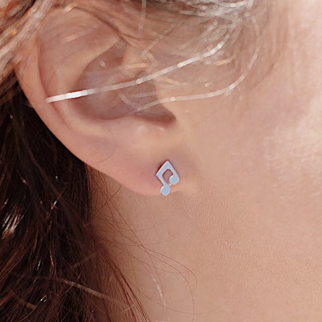 Music Notes Earring Studs