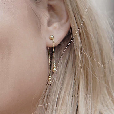 Drops of Jupiter Front Back Earrings | 14kt Gold