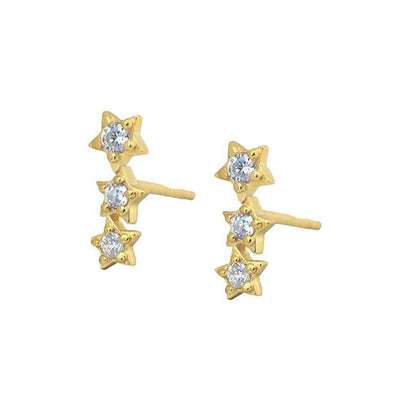 Mini Three Stars Earring Studs