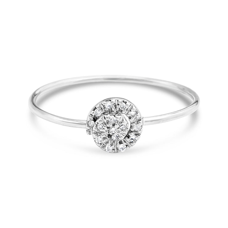 Stackable Circle Diamond Ring | 14kt Gold