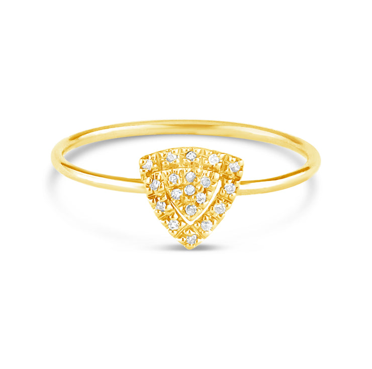 Stackable Triangle Diamond Ring