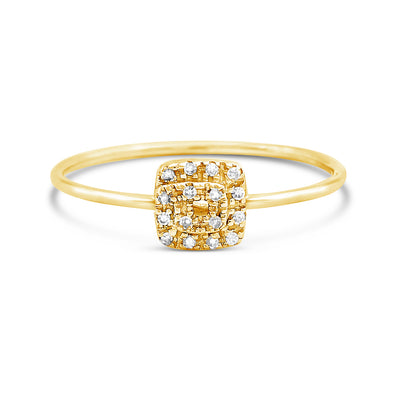 Stackable Square Diamond Ring | 14kt Gold