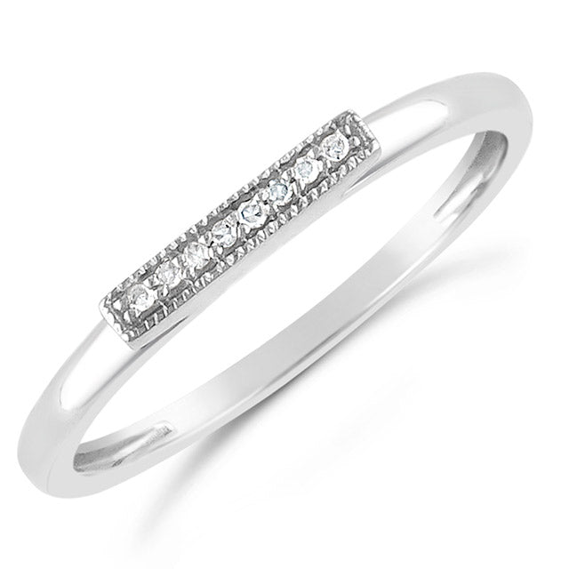 Diamond Bar Ring | 14kt Gold