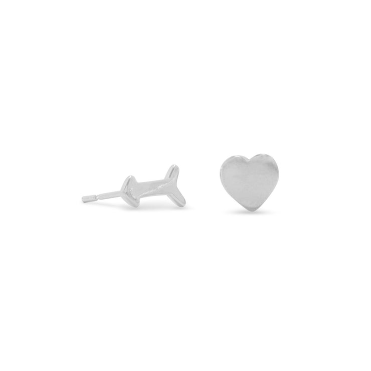 Arrow & Heart Mini Studs