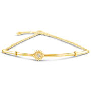 Fifty Fifty Bracelet Bangle | 14kt Gold