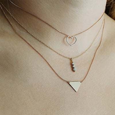 Diamond Trio Necklace | 14kt Gold