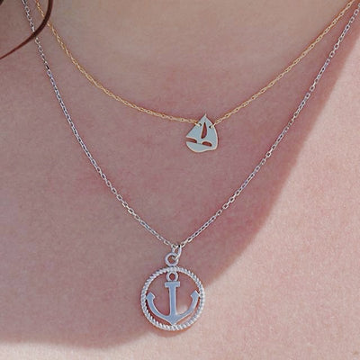 Sailboat Necklace | 14kt Gold