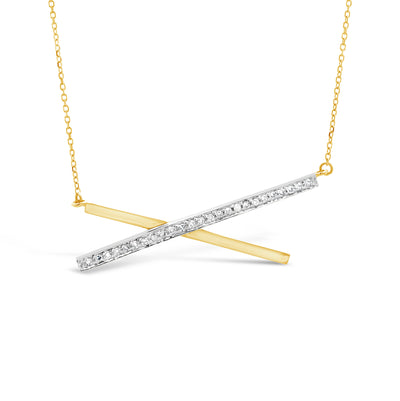 Diamond X Necklace