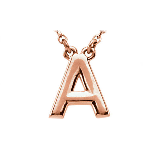 Classic Initial Necklace | Rose Gold