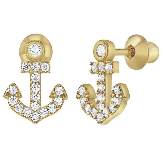 Ship Anchor CZ Studs
