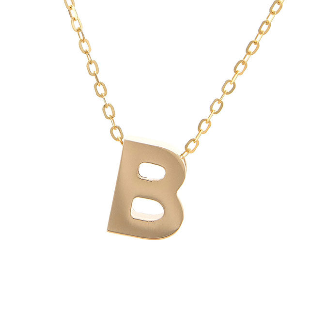 Initial Block Necklace