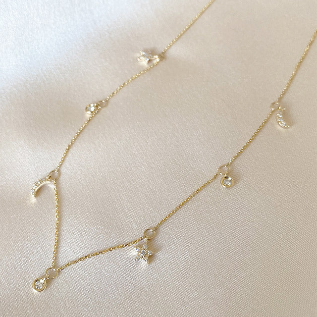 Champagne Supernova Dangle Necklace