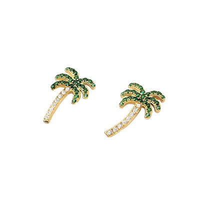 Coconut Tree Earring Studs
