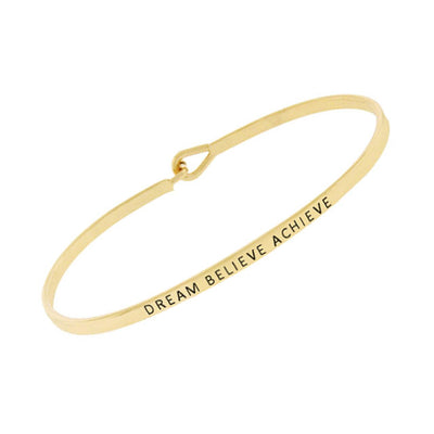 Dream Believe Achieve Bangle