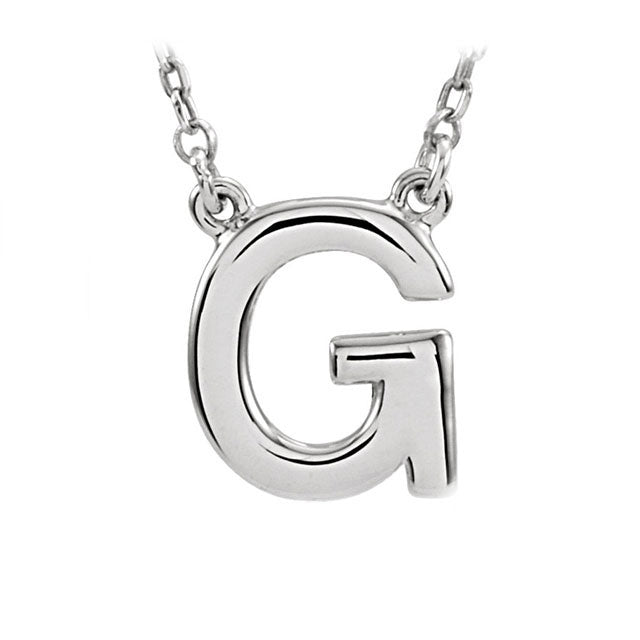Classic Initial Necklace | Sterling Silver