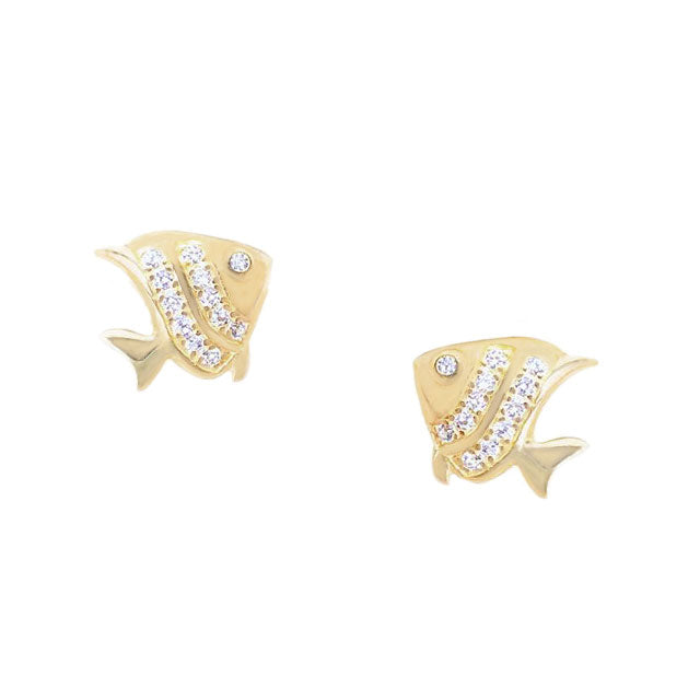 Angelfish Earring Studs