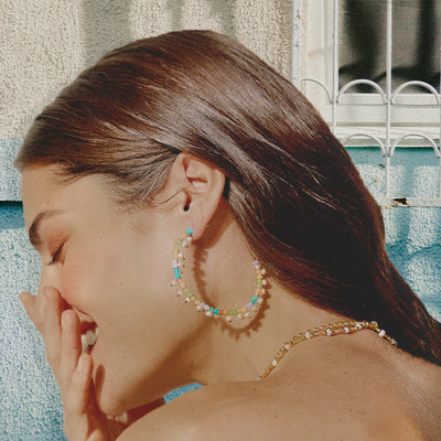 Harbour Island Beaded Hoops