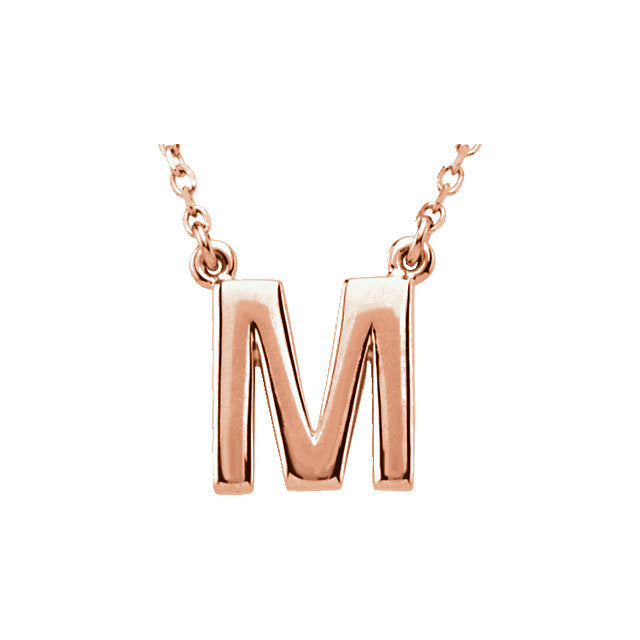 Initial Necklace | 14kt Rose Gold