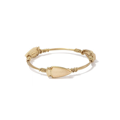 Multi Stone Wire Bangle