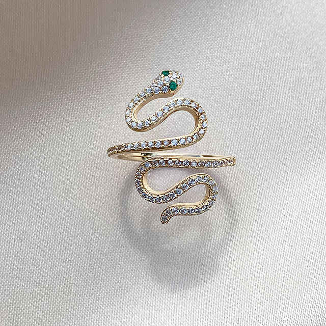 Nagini Pave Ring