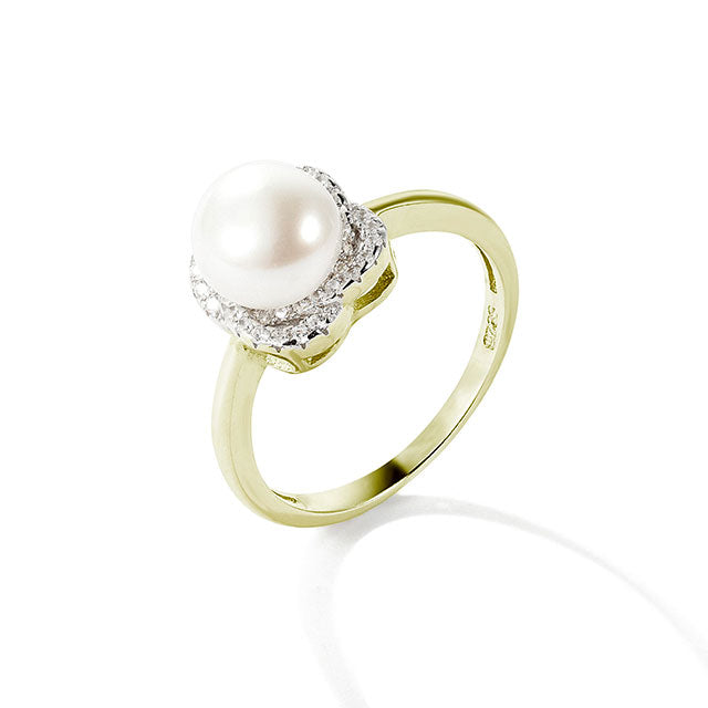 Pearl CZ Ring