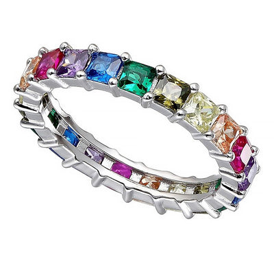 Rainbow Princess Cut Band