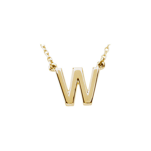 Classic Initial Necklace | Yellow Gold