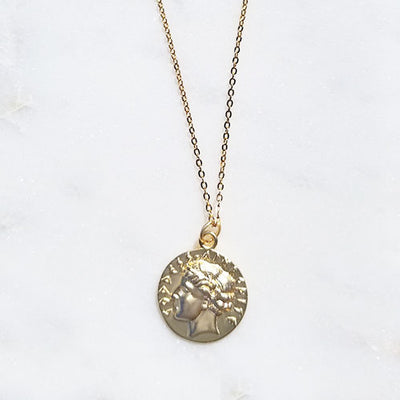 Aphrodite Coin Necklace