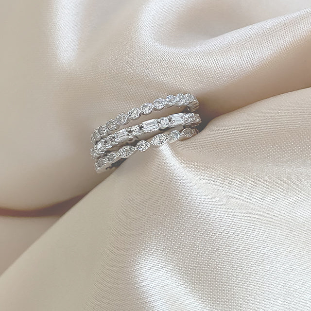 Baguette Trio Ring Stack