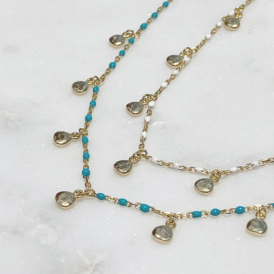 Enamel Choker Necklace