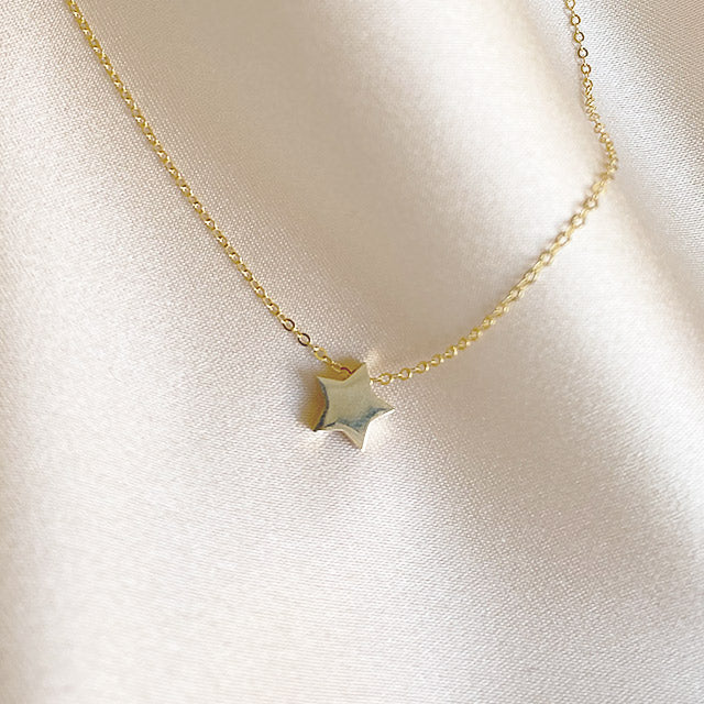 Star Necklace | 14kt Gold