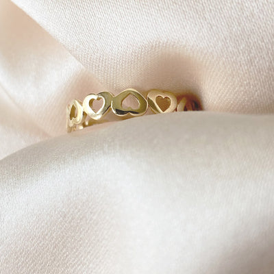 Heartbeat Ring | 14kt Gold