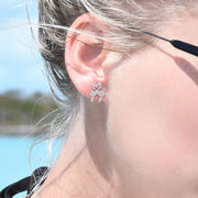 Kissing Flamingo Studs
