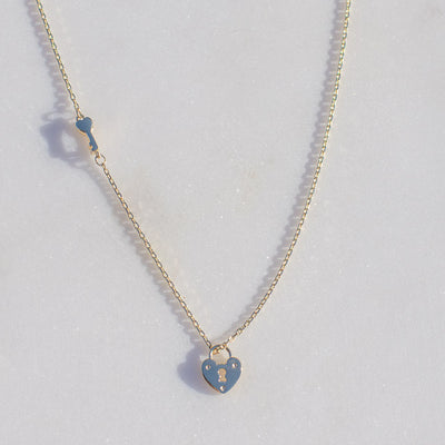 Unlock Your Love Necklace | 14kt Gold