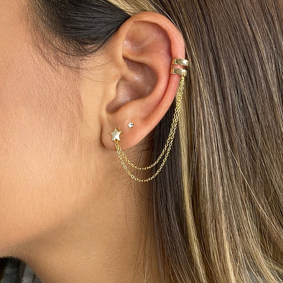 Lucky Star Cuff Earrings