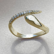 Nagini  Small Pave Ring