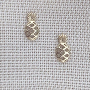 Pineapple Earring Studs | 14kt Gold
